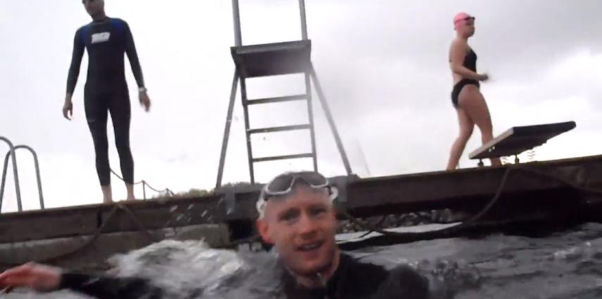 Første svømmetræning i åbent vand – Limfjorden